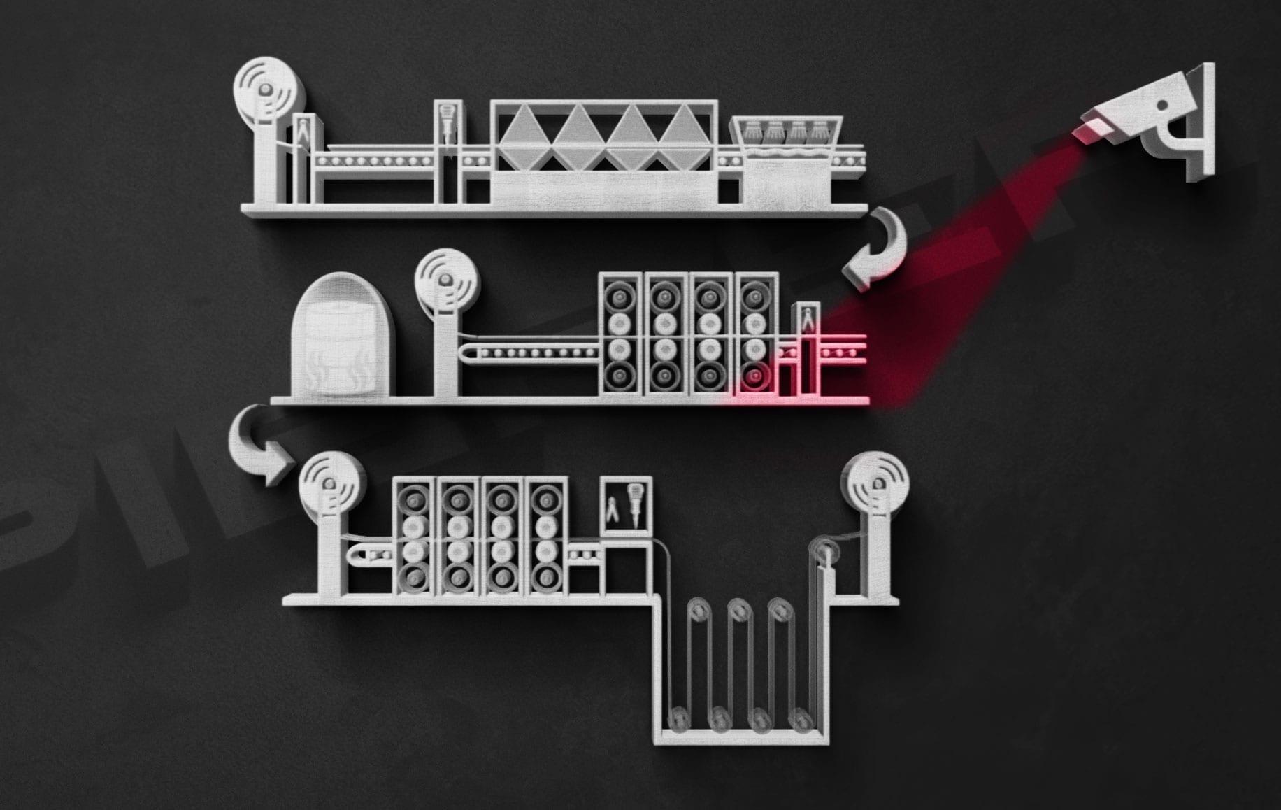 Kaltwalzwerk Qualitätskontrolle Kontibeize Pieper