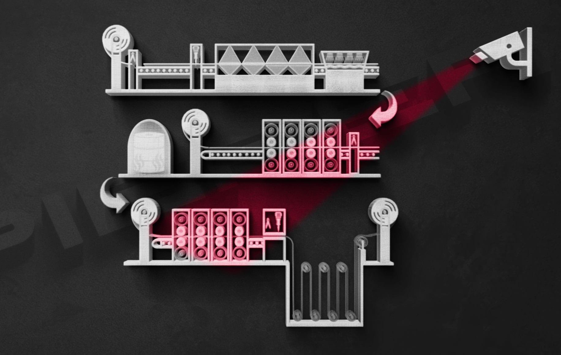 Kaltwalzwerk Qualitätskontrolle Walzstrassen Pieper